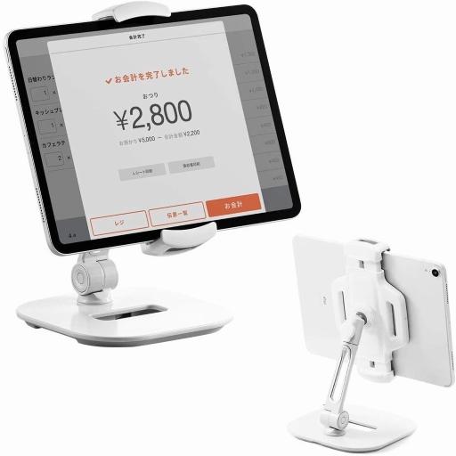 サンワ/iPad・タブレットアームスタンド100-LATAB013W